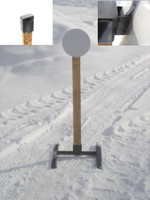 "Hanging Steel Challenge Target w/base- 10"" Dia. 3/8"" AR500 Steel Plate"