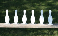 "8"" Bowling Pin K'Over - 6 Pc. Set 1/4"" Thick Regular Steel - Free Shipping"