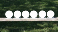 "4""  Circle Knock Over Targets 6 pc. Set"