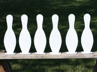 "15"" Bowling Pin K'Over Targets - 6 Pc. Set 3/8"" Thick AR500 - Free Shipping"