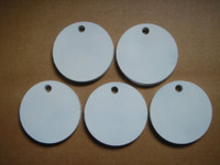 """Five 5 Inch Round Hangers 3/8"""" AR500 NRA Action Pistol Plates (FREE SHIPPING!)"""