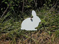 """Rabbit Hanger Gong Target - 3/8"""" Thick AR500 1 piece(FREE SHIPPING!)"""