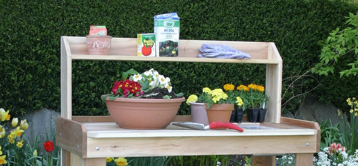 bench product gardener hayneedle garden gardnerschoicepottingbench coral cfm potting master wood choice coast s fir