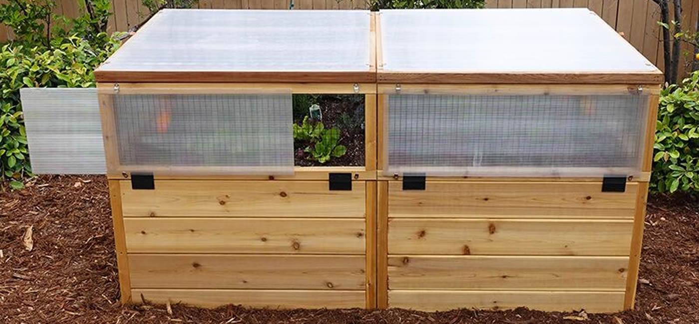 3\' x 6\' Raised Garden Bed Mini Greenhouse Kit | Eartheasy.com