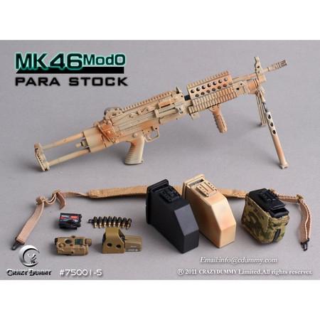 Crazy Dummy - MK46 MOD0 PARA STOCK : Tan Camo