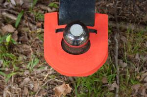 Shin & Knee Protector in orange.