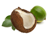 Coconut Lime, infused with natural essential oils, including lime and orange.  Best Damn Scents