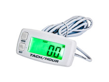 Marine Tach Hour Meter OZ-USA® tachometer RPM display motorcycle atv dirtbike buggy outboard cr White