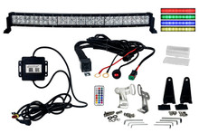 "RGB Series Curved 30"" OZ-USA® Double Row Dimmable LED Light bar Cross Style DRL & Variable RGB Bluetooth Functions  Combo Beam Anti-Theft Hardware Off road 4WD ATV SUV Truck"