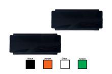 "2pcs 8"" Black Bar OZ-USA® Protective Polycarbonate Lens Snap On Cover for Offroad LED light bar dual row ATV SUV 4x4"
