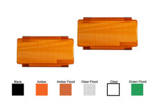 2pcs 6 inch Amber Flood OZ-USA® Diffused Protective Polycarbonate Lens Snap On Cover for Offroad LED light bar dual row ATV SUV 4x4