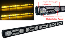 "X-Series 50"" OZ-USA® Amber Yellow Lens Double Row LED Light Bar Combo Beam Diffused ( Flood Beam) Lens Integrated DRL  Fog Dust Offroad 4x4 Truck SUV"