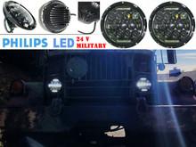 "7"" OZ-USA® High Output Military LED Headlight 24 volts M35a2 M35 M35a3 M923 Truck HHMMWV M998 DIESEL"