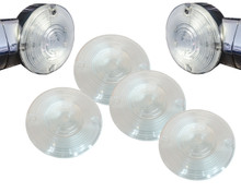 Set of 4 Blinker Clear Lens Harley Touring Pancake Road King Glide Electra Turn Signal FL
