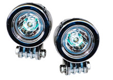 OZ-USA® Chrome 20w LED lights spot motorcycle cruiser fog hid passing running white vn