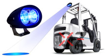 Blue Forklift Led Light Warehouse Safety Warning Lamp Spot Offroad Race 12V 48V
