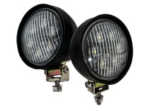 1 Pair OZ-USA® H7606 LED Tractor Head Fender Light John Deere Ford PAR 36 4411 Tow Truck Heavy Equipment