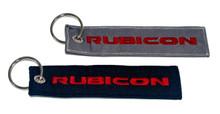 2x Rubicon Keychain Jeep JKU JK Wrangler Rubicon Crew Tag Lock. Black & Charcoal Gray
