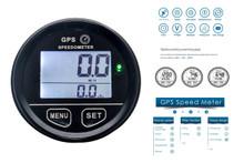 GPS Speedometer OZ-USA® 60mm gauge resettable odometer battery meter digital dash 12v 24v mph kmh car truck boat marine motorcycle cart atv glider