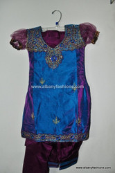 Blue Indian Girls Churidar Set Size 28