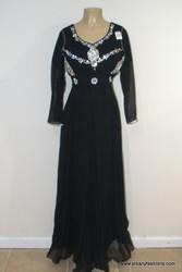 2000 Prom Black Long Dress