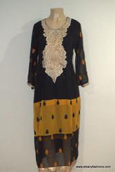 2842-Anarkali Churidar Suit-Black