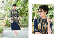 Black POONAM BIBA RAYON SUMMER COLLECTION Kurti