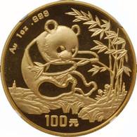 1994 Panda 100 Yuan 1 oz Gold Large Date NGC MS69