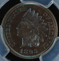 1893 Indian Head Cent PCGS Proof 65 Brown