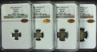 Great Britain 1868 Maundy Set. 4 coins. NGC MS64 & 65, WINGS Approved