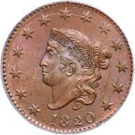 1820 Coronet Head Large Cent, PCGS MS64BN CAC