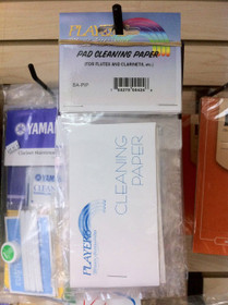 Players Flute and Clarinet Pad Cleaning Paper 100 Sheets 703275004246