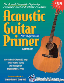 Acoustic Guitar Primer Book + CD Beginning Instruction Lessons Watch and Learn