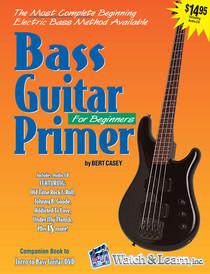 Beginner Bass Guitar Book CD Instruction Music Lessons Watch and Learn