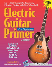 Electric Guitar Primer Book +CD Instruction Beginner Starter Lessons Watch Learn
