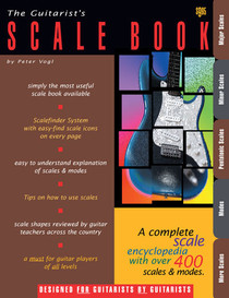 Guitarist's Scale Encyclopedia Book for Guitar +modes Watch and Learn 400 scales