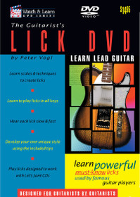 Intermediate Guitar Guitarist's Licks instructional DVD Video Watch and Learn