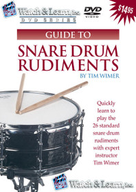 Snare Drum Rudiments DVD Video lesson learn instruction Watch and Learn