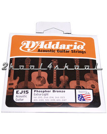 D'Addario Extra-light Acoustic Guitar Strings EADGBE