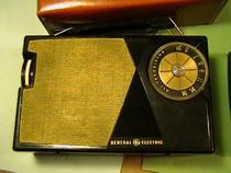 Vintage General Electric Transistor Radio Art Deco design