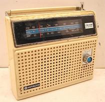 Hitachi Am Fm Battery Radio Ac Dc Earphone Jack 1240