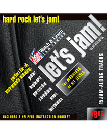 Let's Jam! CD Hard Rock Practice Backing Tracks Watch and Learn