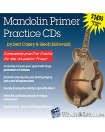 Mandolin Primer 2 CD set Practice Jam Backing Tracks Lessons Audio Watch & Learn