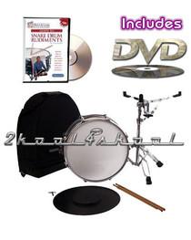 "SNARE drum set+LESSON DVD+Stand+CASE+sticks+bag+14""x6"""