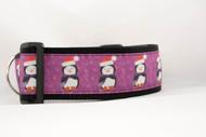 "Purple Christmas Penguin 2"" wide"