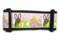 "Chocolate Easter Bunny Dog Collar  - 2"" wide"