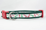 """Red Green Candy Cane 3/4"""" wide"""
