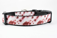 1 inch wide blood splatter collar