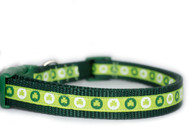 "Circle Shamrock Collar 3/4"" wide"