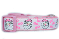 Pink Santa dog collar